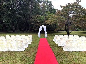 Smoky Mountain outdoor wedding, Outdoor weddings near Smoky Mountains National Park, Outdoor wedding setup, outdoor wedding carpet, outdoor wedding package, Smoky Mountain wedding arbor, outdoor wedding arbor
